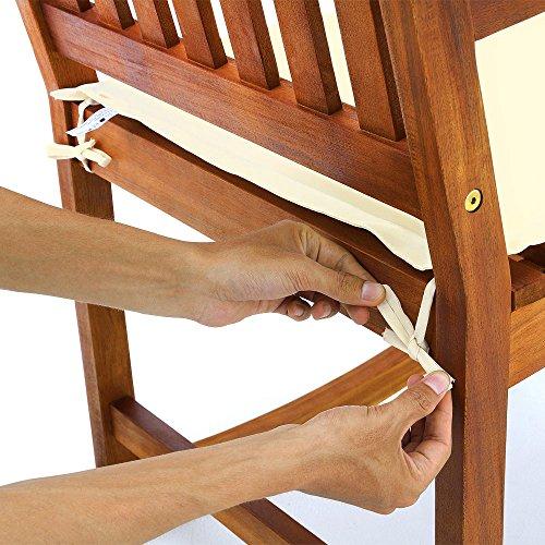 deuba holz schaukelstuhl f r garten und wohnzimmer. Black Bedroom Furniture Sets. Home Design Ideas
