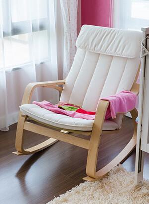 Wohnzimmer Schaukelstuhl aus Holz