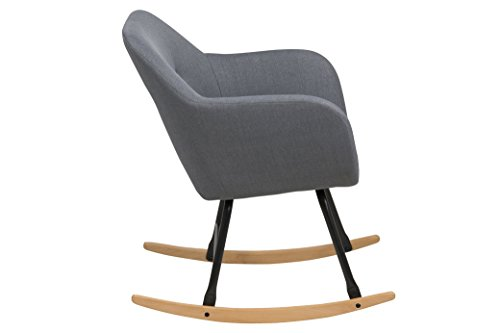 AC Design Furniture Schaukelstuhl Stoff dunkelgrau 64790