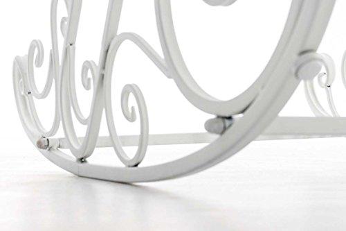 CLP Eisen Schaukel-Stuhl SMILLA, Landhaus-Stil, Design nostalgisch weiß