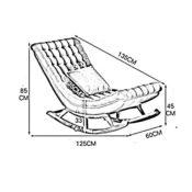 ZHANGRONG-Schaukelstuhl Schaukelsessel- Abmessungen Creative Lazy Stoff Sofa Schaukelstuhl Liegestuhl Balkon Stuhl geeignet für Innen- und Außenbereich ( Farbe : 8 )